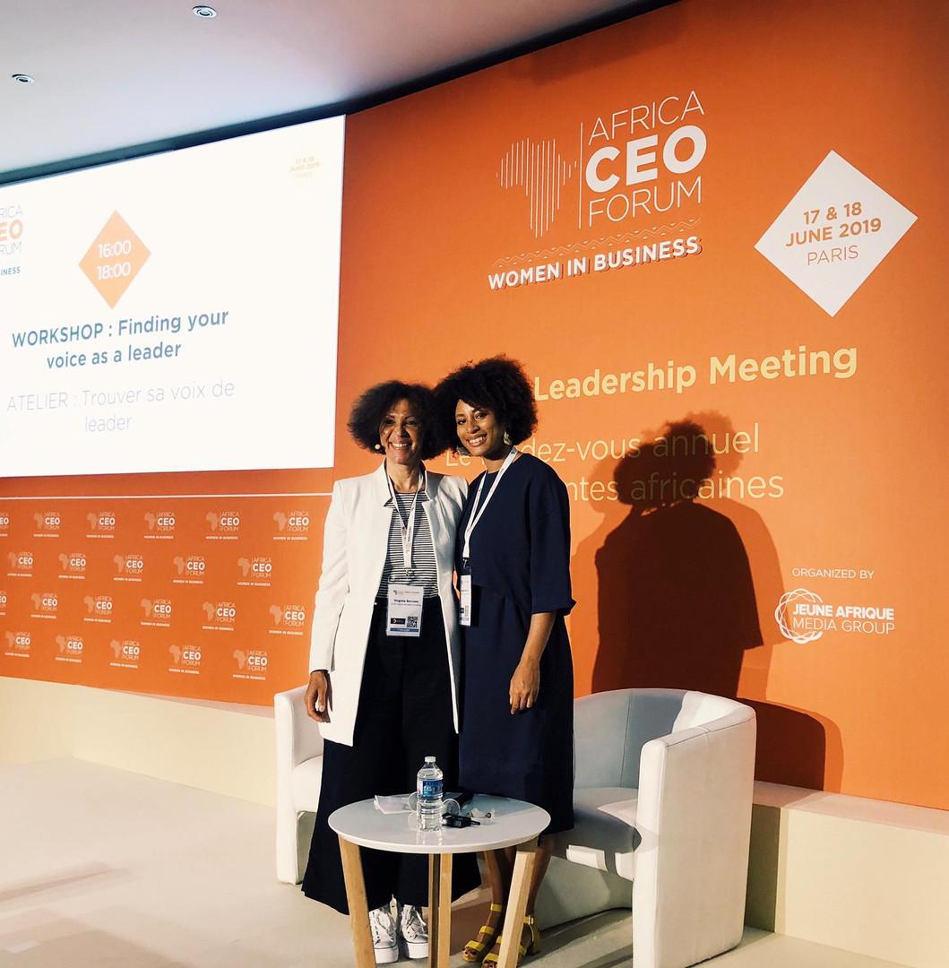 Sandia Nassila et Virginie Servaes à l'Africa SEO Forum - Women in business.