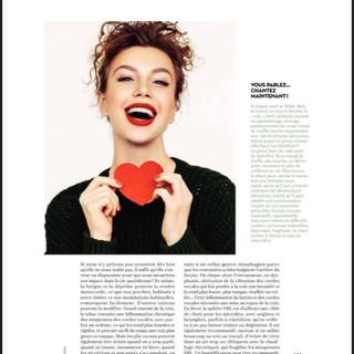 """Article """"Prendre soin de sa voix"""" parution Janvier-Février 2019 par Isabelle Delaleu  pour le Magazine Marie-France."""