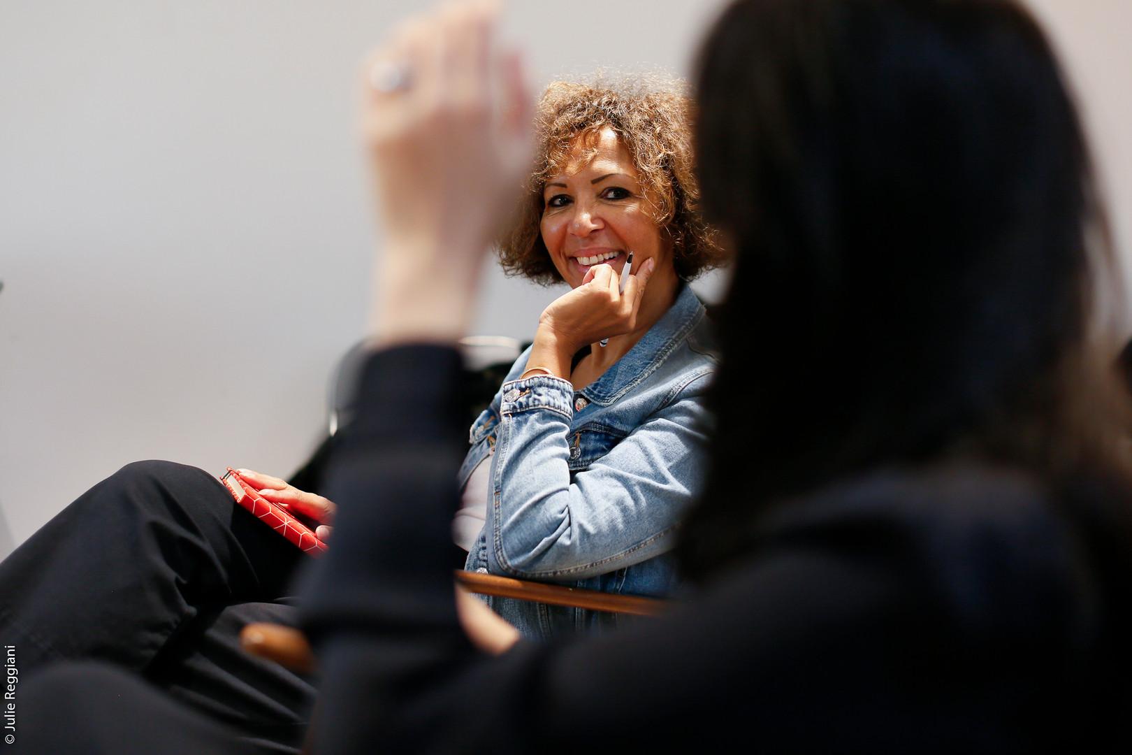 Virginie Servaes à l'Atelier des Femmes Leaders.