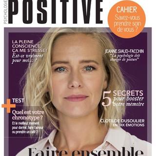 """Article """"Le coaching vocal"""" parution Janvier-Février 2019 par Véronique Olivier pour le Magazine Psychologie Positive."""
