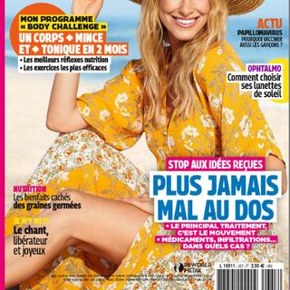 """Article """"Chanter, c'est de la joie garantie!"""" parution 30 avril 2020 par Isabelle Delaleu pour le Magazine Top Santé (n°357)."""
