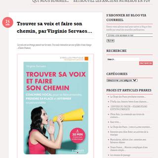 """Article en ligne """"Trouver sa voix et faire """" parution juin 2018 par Norbert Gabriel pour le Blog du Doigt dans l'oeil. ."""