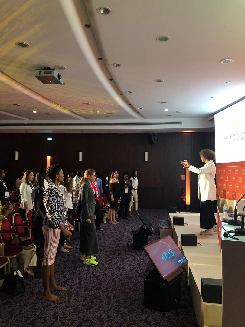 Virginie Servaes intervenant à l'Africa SEO Forum - Women in business.