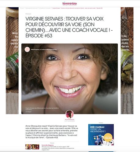 Féminin bio : interview Anne Ghesquière - Virginie Servaes