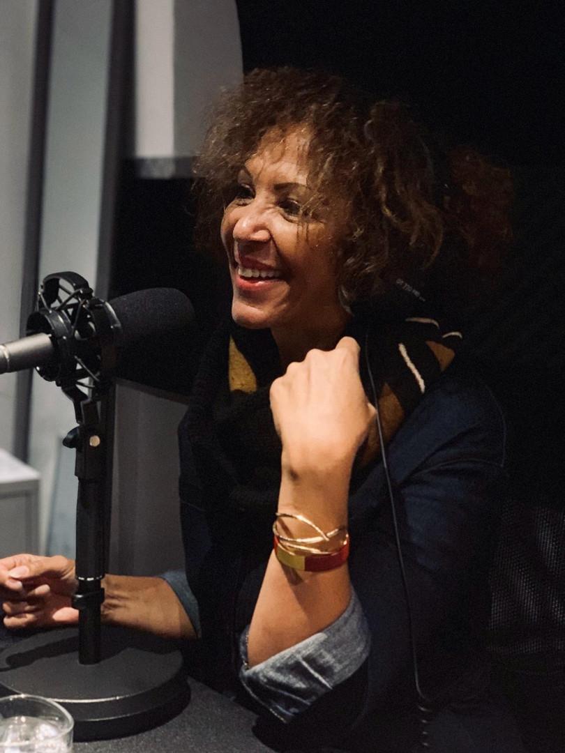 Virginie Servaes en studio