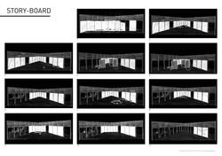 Storyboard de la scénographie