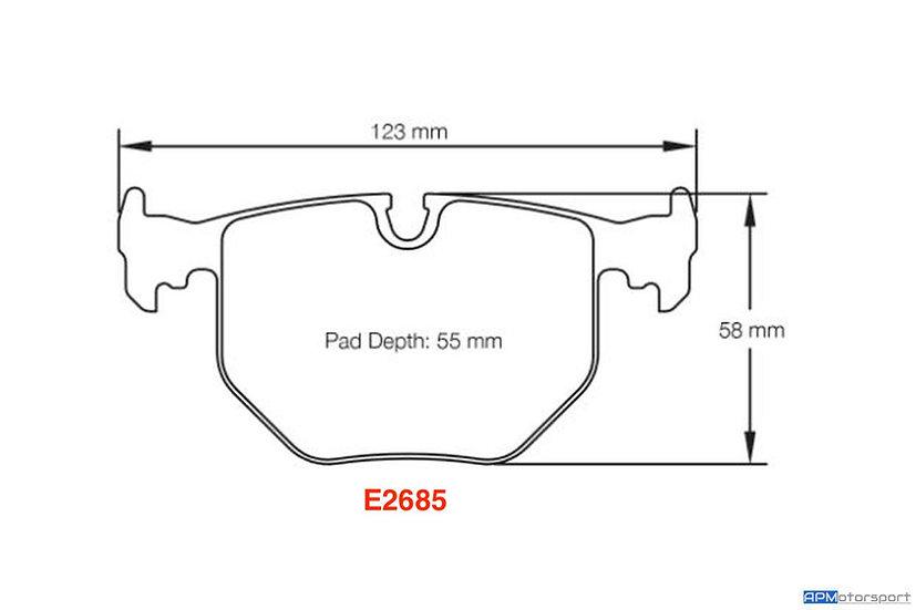 Pagid RSL29 - E2685 - E46 M3/ CSL - Rear (OEM Caliper)