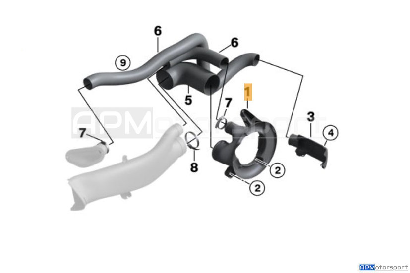 BMW M2 CS Racing - Brake Cooling Ducting Kit