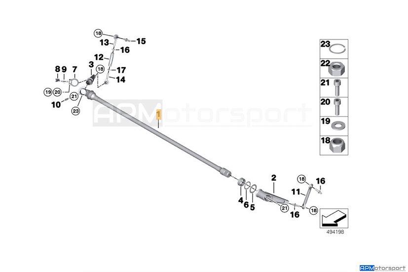 BMW M6 GT3 Rear Sway Anti Roll Bar