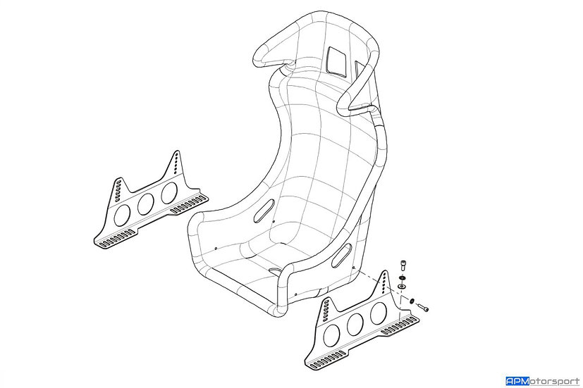 APM Race Seat Mounts - Clio 3 RS/ 4 RS/ Megane 2 RS