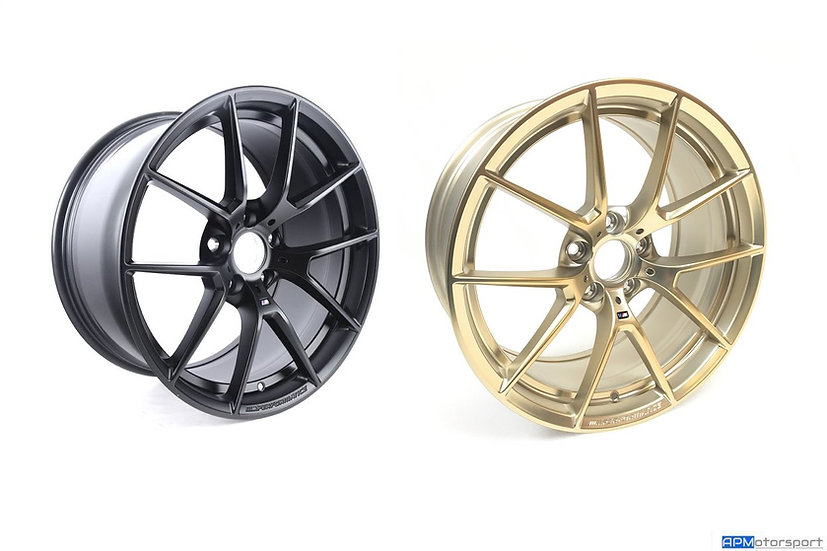 BMW M Performance 763M Wheels - Matt Black & Frozen Gold