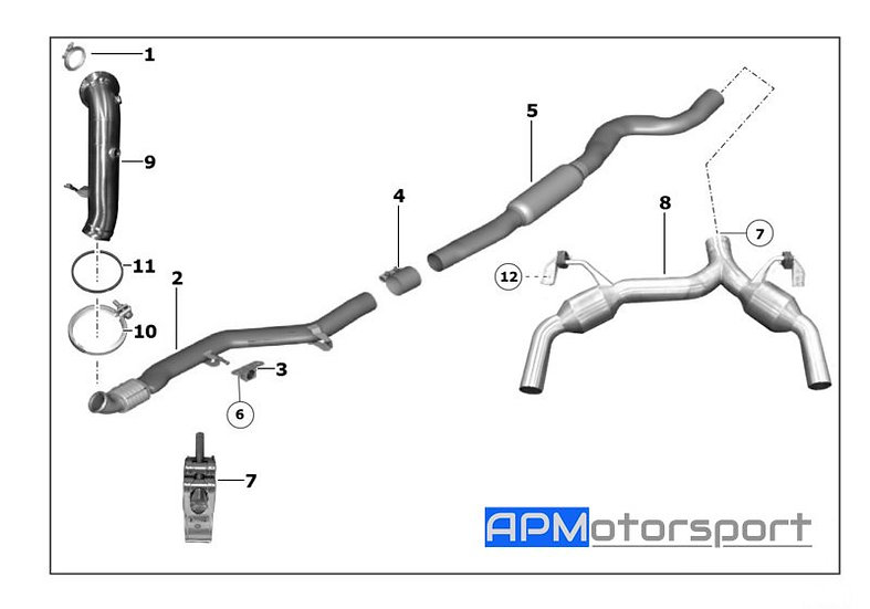 BMW M235i Racing Factory Race Exhaust