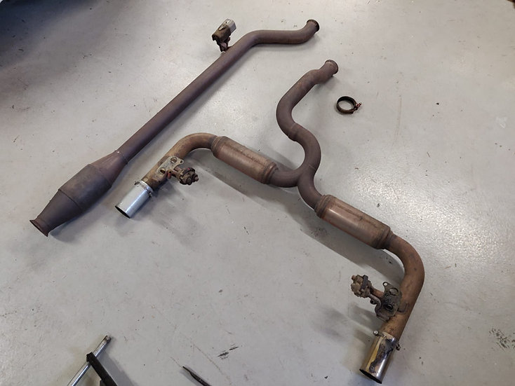 Clio 3 Cup Racer Rear Exhaust - Modified 200 Tips