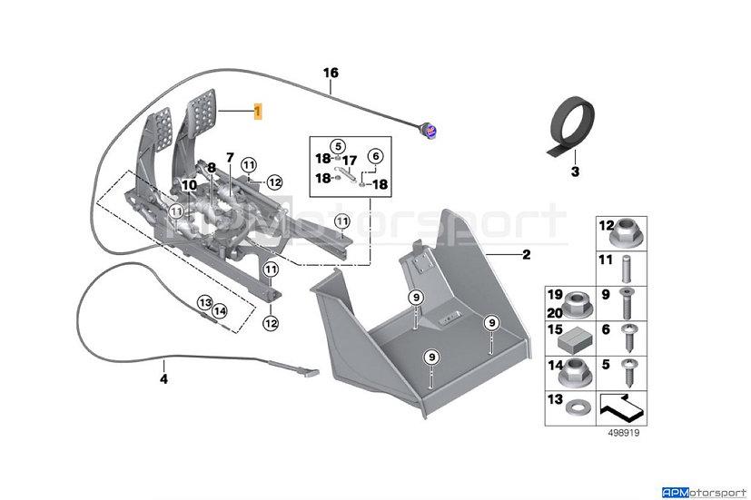BMW M6 GT3 Pedal Box +Foot Plate