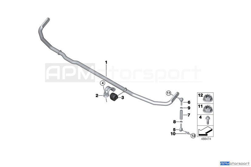 BMW M2 CS Racing - Anti Roll Bar - Rear