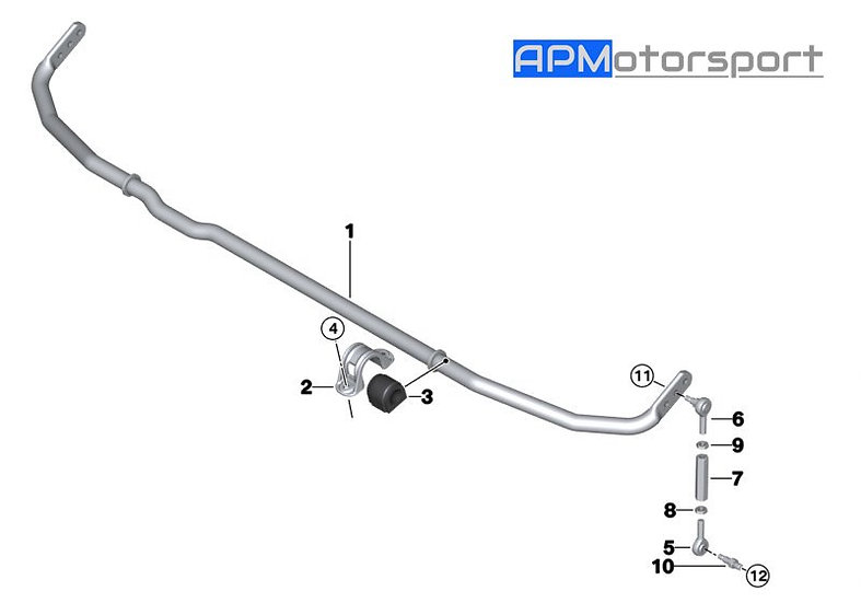 M4 GT4 Rear Sway Bar