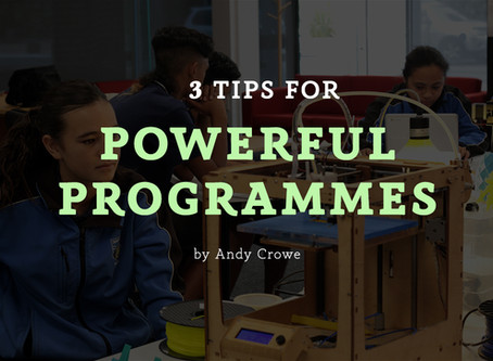 3 Tips for Powerful Programmes