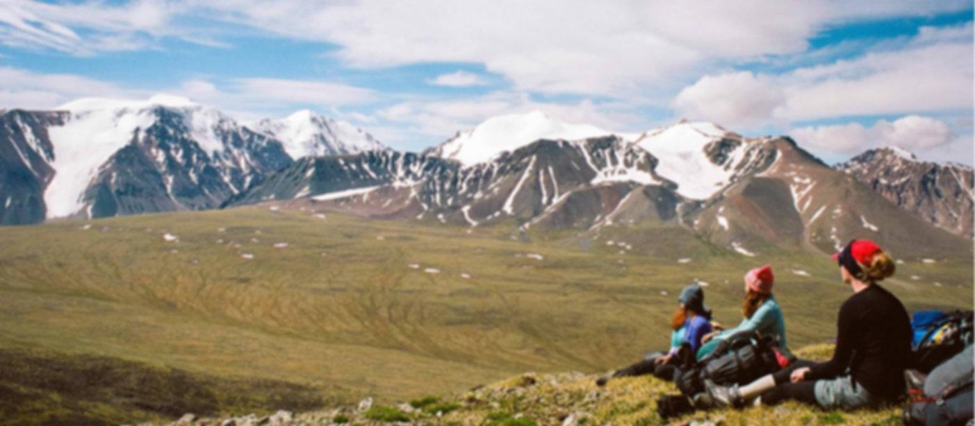 Mongolia Mountin Hiking View