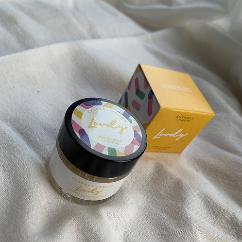 Lemon sherbet  lip scrub  by Lovely Skincare