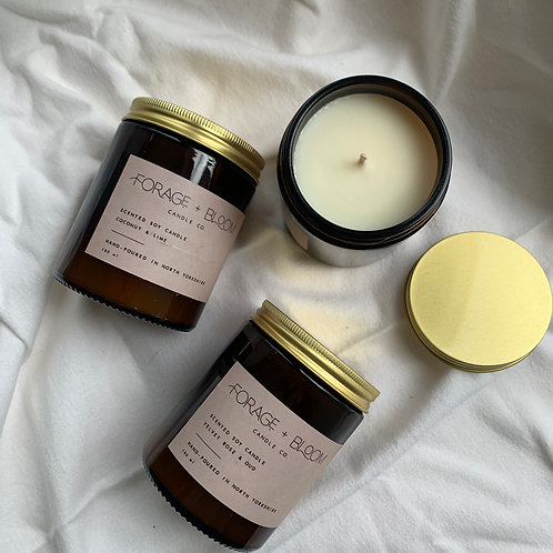 Scented Soy candle by Forage and Bloom