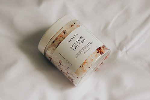 Pink detox bath salts by NARLOA