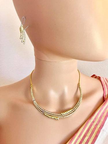 CZ AD necklace set