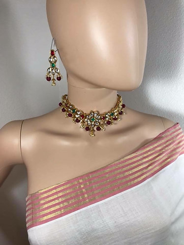 Kundan Multicolor Necklace Set