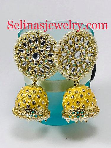 Gorgeous big kundan earrings