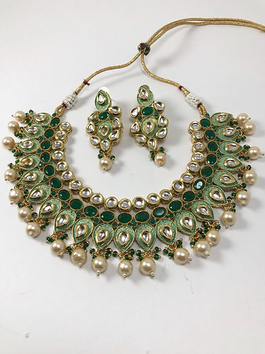 Kundan and meena kari Necklace set!!