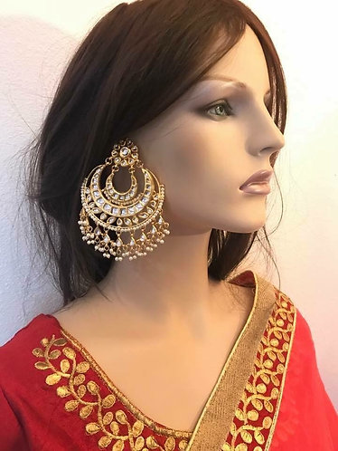 Big heavy kundan earring