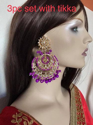 Big kundan earring