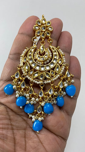 Kundan earring with gorgeous pearl with meena