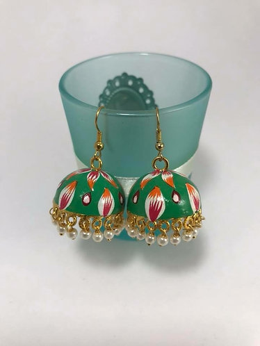 Meena Art work earrings