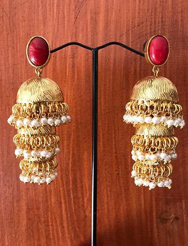 Gold plated 3 layer Jhumka