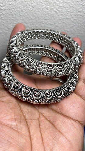 Indian Silver Bangles jewelry.