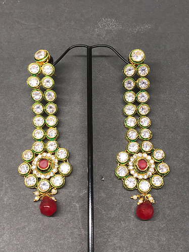 Long Kundan earring