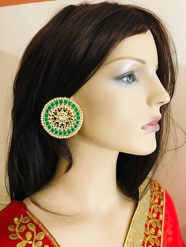 Big round tops earrings