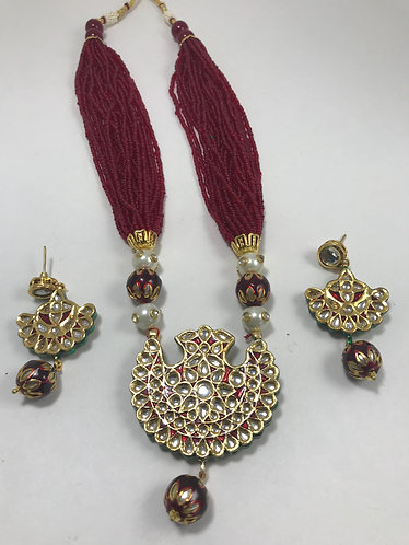 Kundan n Pearl Necklace Set
