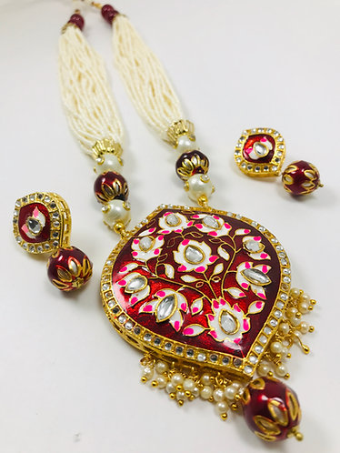 Meena Kari Necklace Set