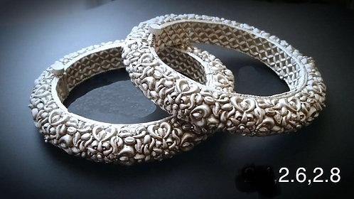 High Quality Silver Bangles Bollywood Style for Party wear