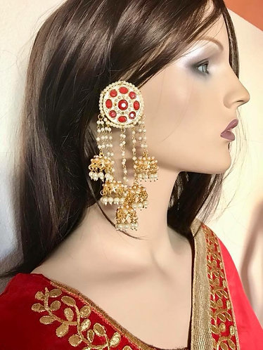 High quality earrings Bollywood style party for women
