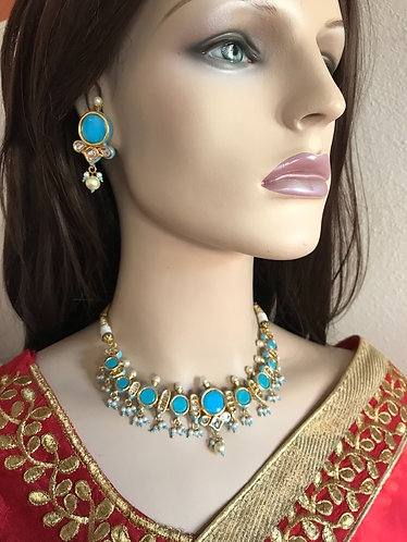 Bollywood gorgeous choker necklace set for party wear