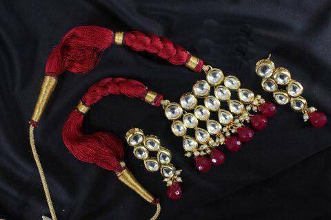 Very high quality kundan necklace set