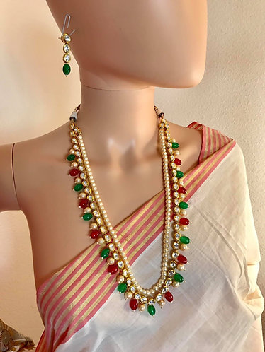 High quality kundan with the gold plated meena