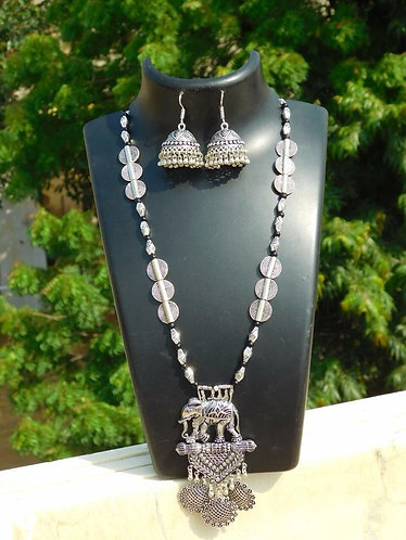 German Silver Necklace Set with earrings