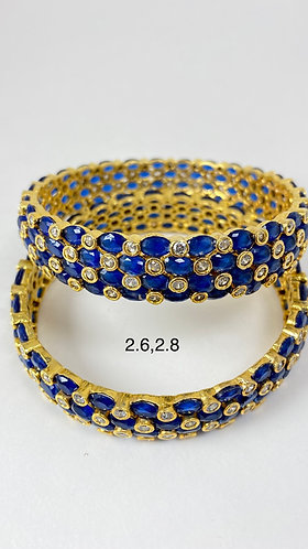 Blue and gold colored Bangles