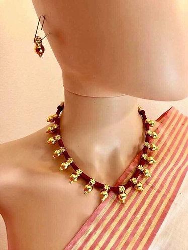 Gold plated Tabiz Mala necklace set