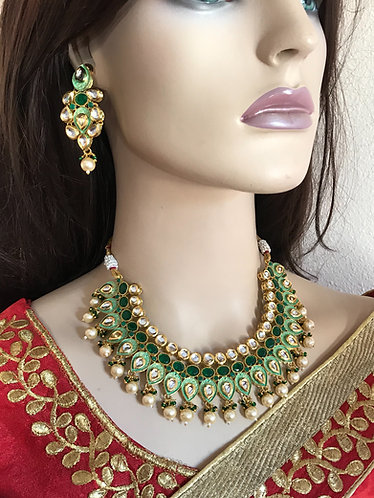 Bollywood gorgeous kundan necklace set for party wear
