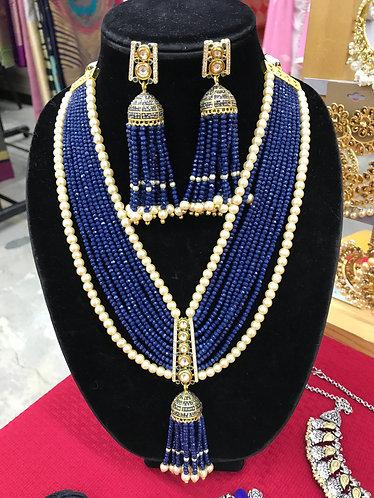 Navy blue gorgeous necklace set