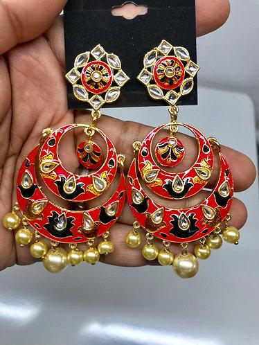 Kundan Meena kari Earring